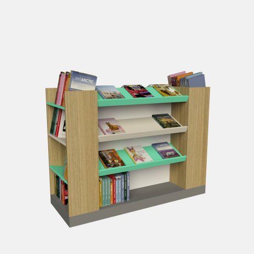 Γόνδολα βιβλιοπωλείου έπιπλα για βιβλία βιβλιοθήκη ραφιέρα πάγκος προβολής βιβλίων γόνδολα κεντρική βιβλιοχαρτοπωλείου