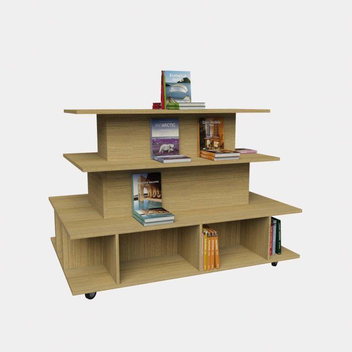 Γόνδολα τετράγωνη έπιπλα βιβλιοπωλείου εξοπλισμός βιβλιοπωλείου επίπλωση βιβλιοπωλείων καταστημάτων