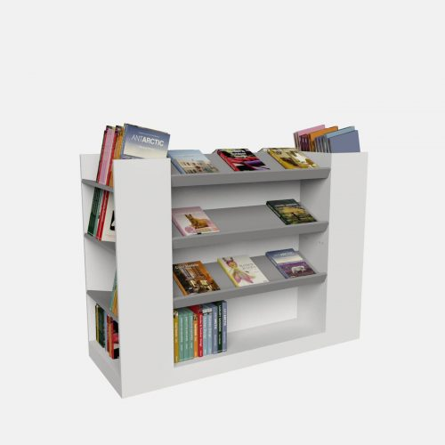Γόνδολες καταστημάτων έπιπλα βιβλιοπωλείου επίπλωση ειδικές καταστκευές για βιβλία ραφιέρες πάγκοι τραπέζια βιβλίων