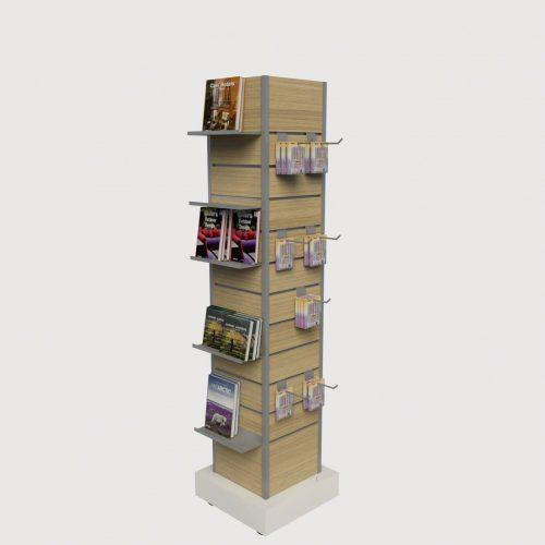 Εκθετήριο περιστρεφόμενο βιβλιοπωλείου εξοπλισμός επίπλωση καταστημάτων βιβλιοπωλείου σταντ για βιβλία