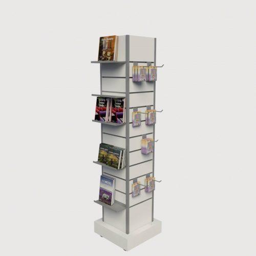 Κεντρικό εκθετήριο βιβλίων καταστήματος περιστρεφόμενο έπιπλα επιπλώσεις διακόσμηση καταστημάτων