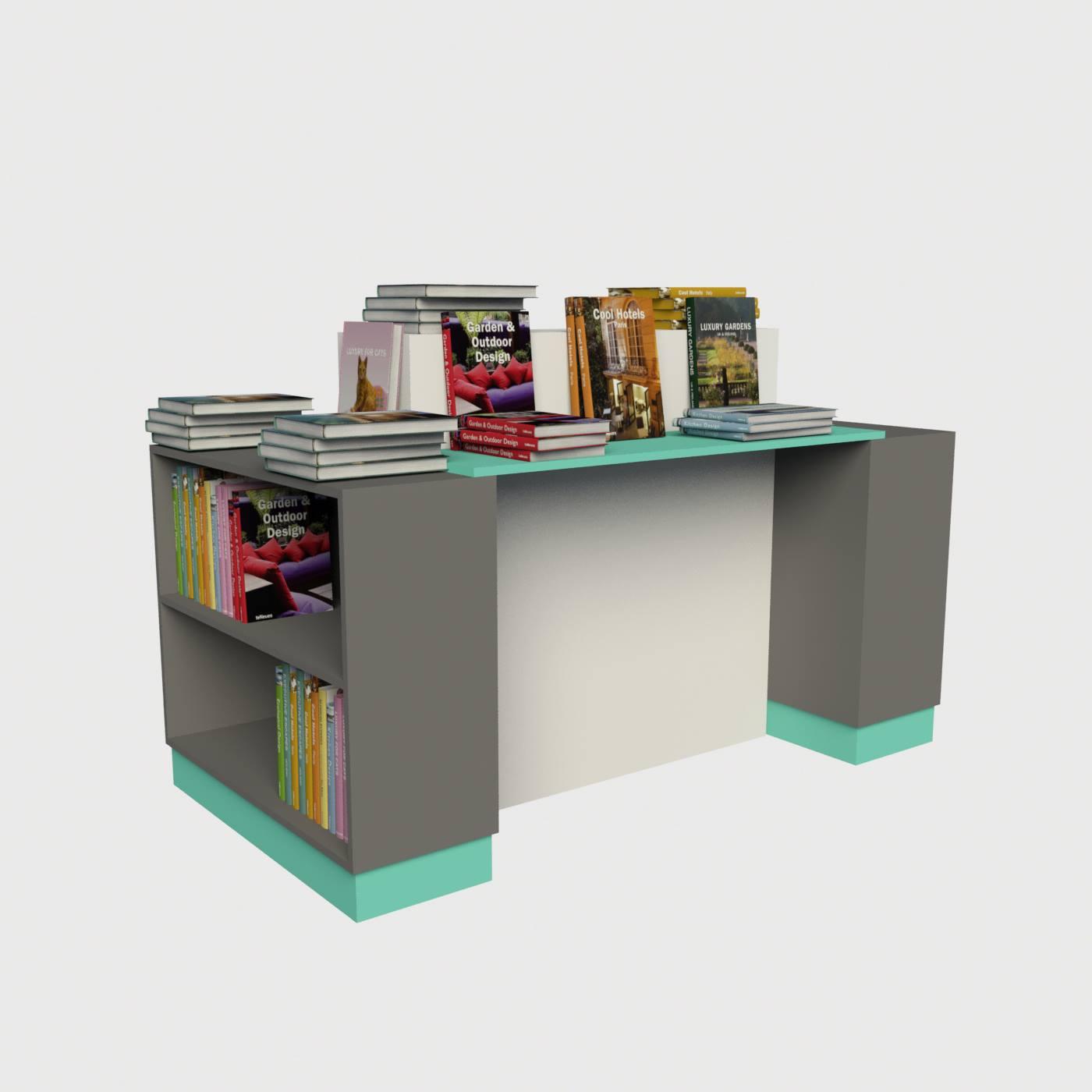 Κεντρικό τραπέζι βιβλιοπωλείου για βιβλία δειγματισμό εξοπλισμός καταστημάτων βιβλιχαρτοπωλείων έπιπλα καταστήματος