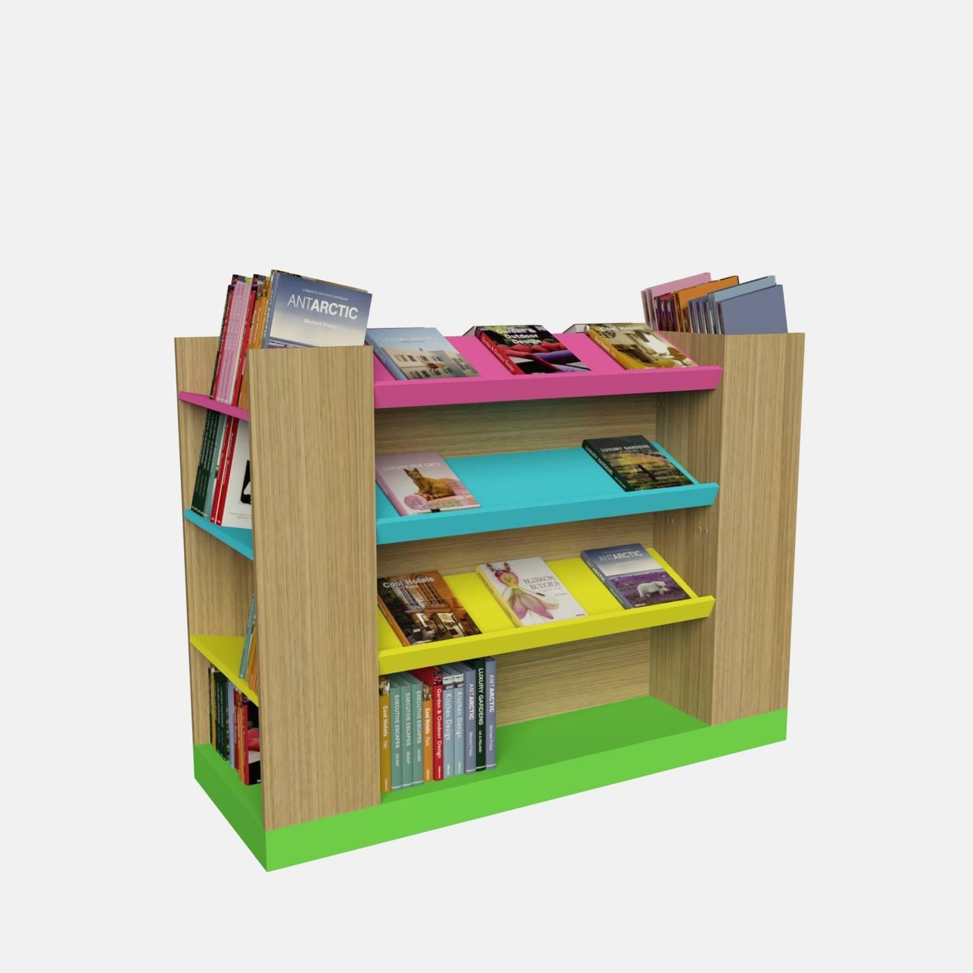 Ραφιέρα βιβλιοπωλείου μελαμίνη έπιπλο οικονομική τιμή κεκλιμένα ράφια για βιβλία επίπλωση βιβλιοπωλείου