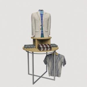 Κυκλικό σταντ καταστήματος μεταλλικό σταντ ρούχων με εκθετήριο εξοπλισμός καταστημάτων