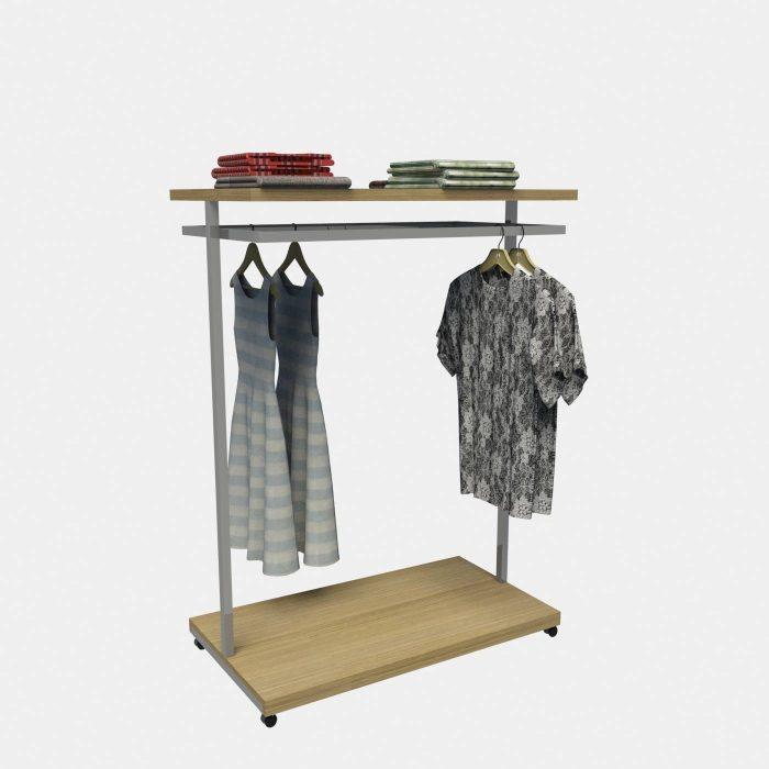 Σταντ ένδυσης εξοπλισμός καταστημάτων ρούχων ενδυμάτων μεταλλικά σταντ καταστήματος