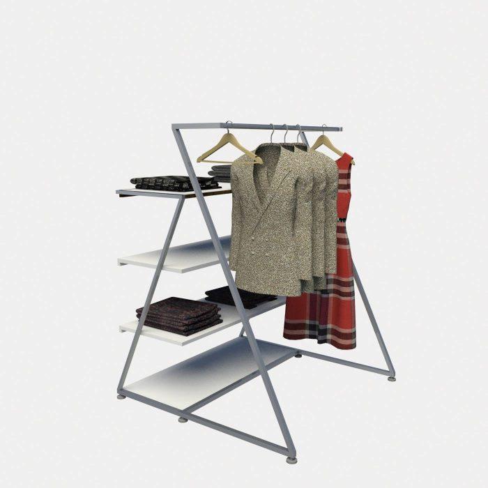 Σταντ κρέμασης ρούχων καταστήματος έπιπλα καταστημάτων