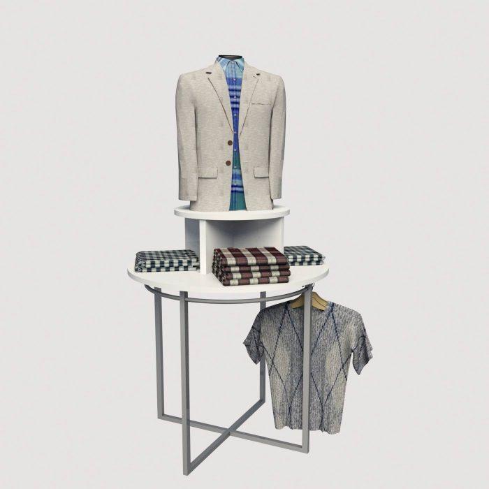 Σταντ μελαμίνης μεταλλικό καταστήματος για ρούχα ενδύματα παπούτσια τσάντες κούκλες