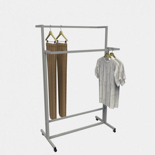 Σταντ ρούχων δυο πλευρών εξοπλισμός καταστημάτων ένδυσης έπιπλα επιπλώσεις