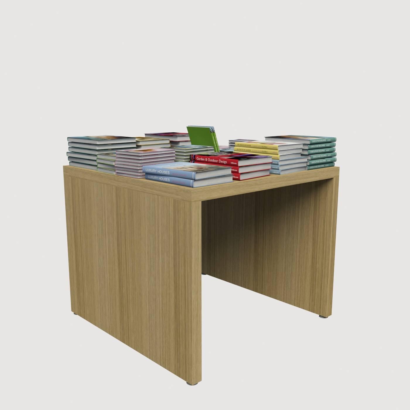 Τραπεζάκι μελαμίνης για καταστήματα με βιβλία εκθετήριο μελαμίνης ράφι για βιβλία