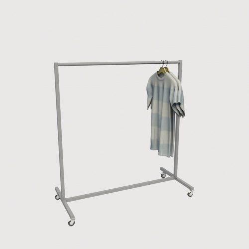 Stand καταστήματος μεταλλικό τροχήλατο έπιπλα καταστημάτων σταντ ένδυσης εξοπλισός ρούχων