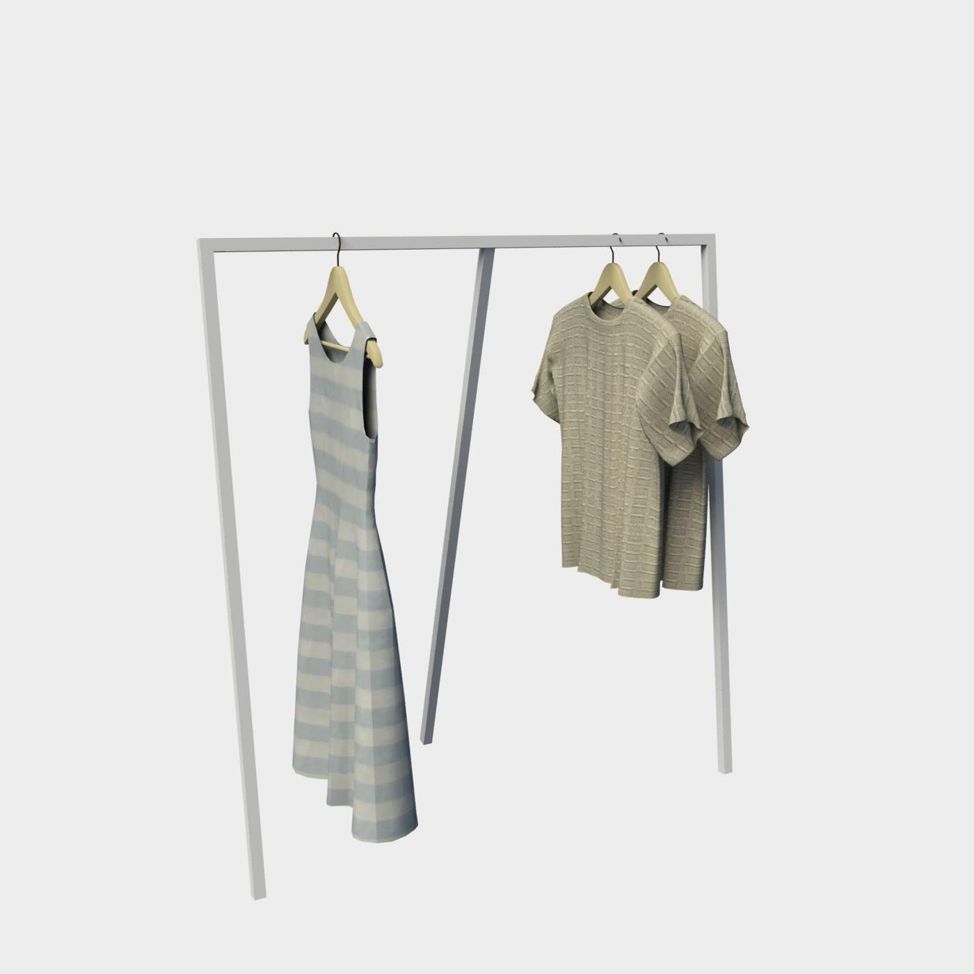 2428080613d Stand μεταλλικό ρούχων κρεμασης επιπλα καταστημάτων εξοπλισμός καταστηματος
