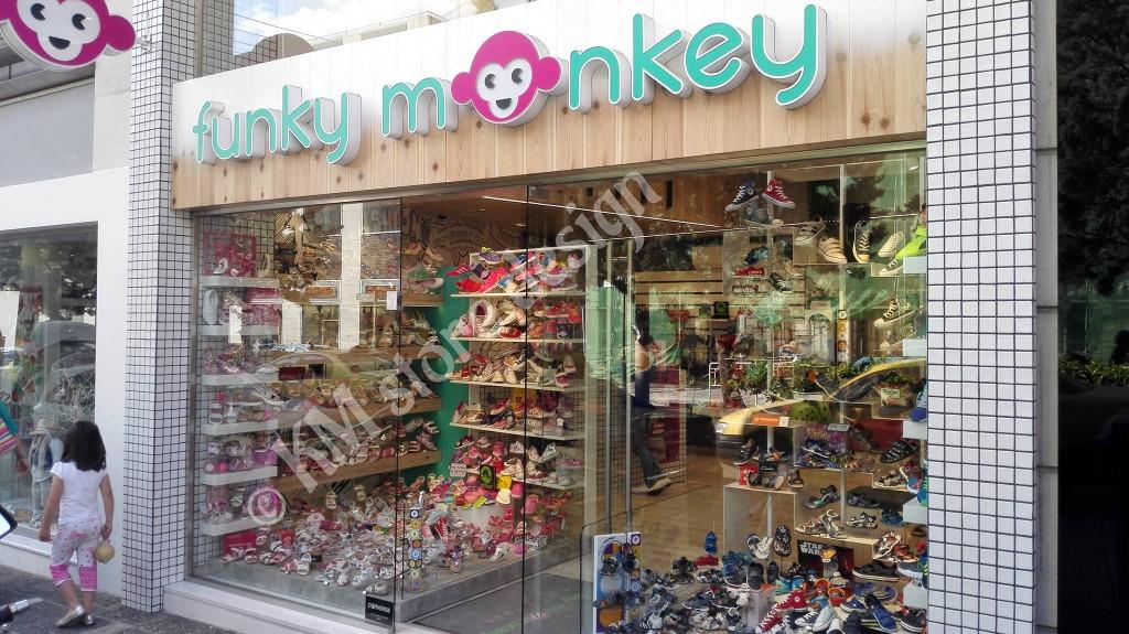 Επίπλωση καταστήματος παιδικών υποδημάτων Funky Monkey Νέα Ιωνία d6cfcb7d466