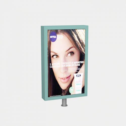 Έπιπλο βιτρίνας για διαφήμιση προϊόντων