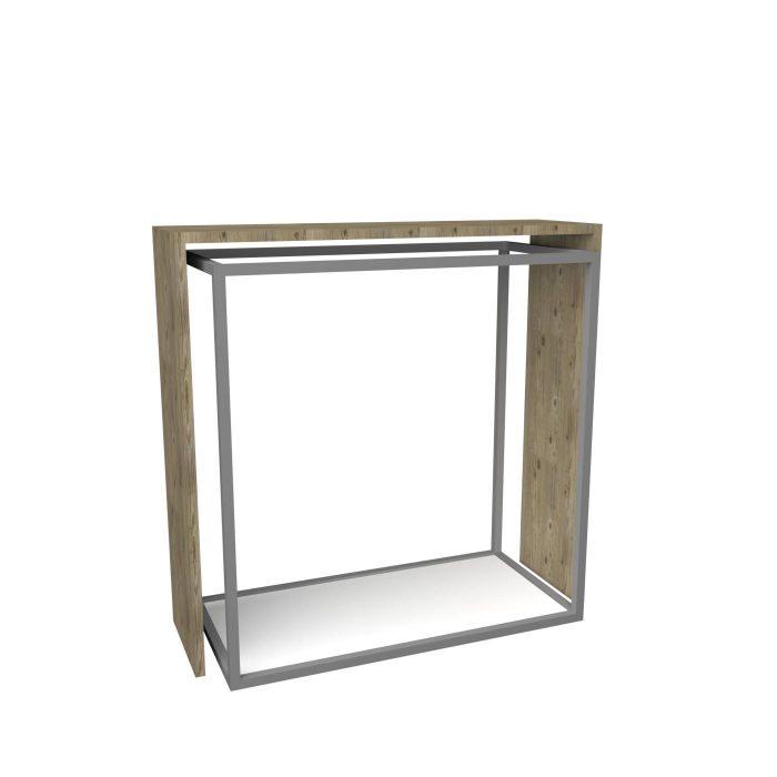 Μεταλλικό - Ξύλινο σταντ για τοποθέτηση ρούχων