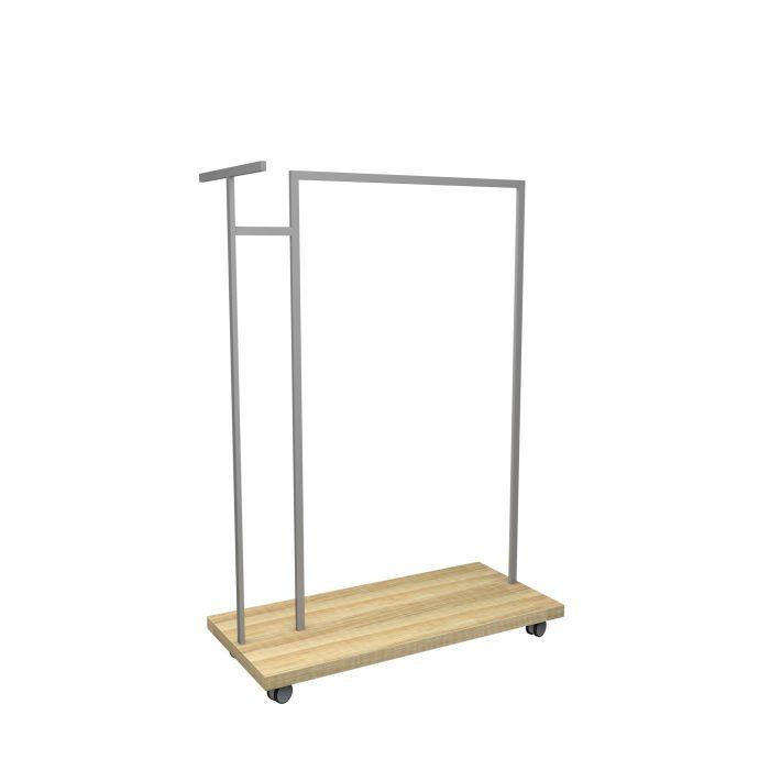 Σταντ ρουχισμού με ξύλο για λειτουργικότητα καταστημάτων