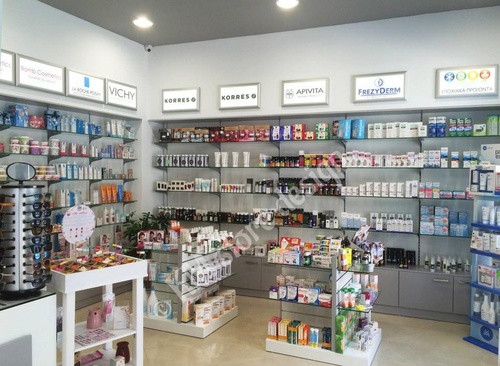 Επίπλωση-Φαρμακείου-στην-Κάλυμνο-γόνδολα-φαρμακειου-πανελ-διατρητα-γυάλινα-ραφια-επιπλα-για-φαρμακειο-1024x749.jpg