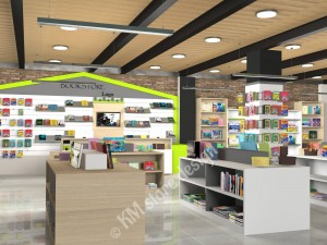 Σχεδιασμός Βιβλιοπωλείου, επιτοιχα επιπλα, σλατ πανελ, εξαρτηματα κρεμασης, βιβλιοθηκη, γονδολα βιβλιοπωλειου