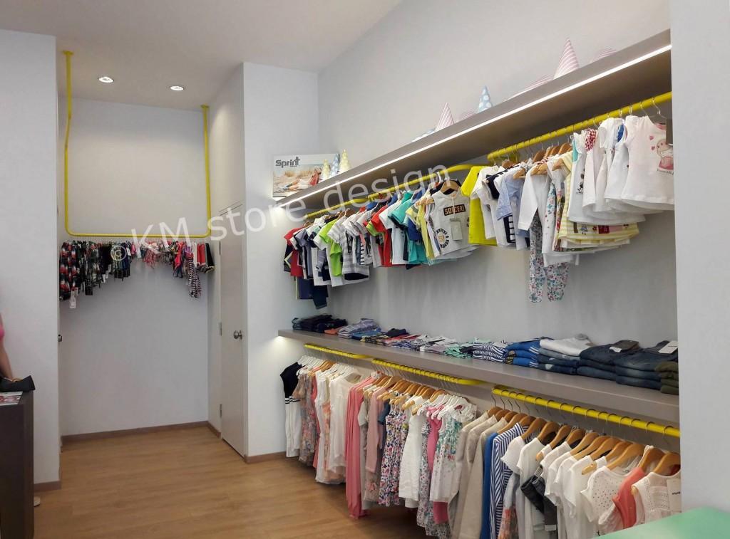 0c4a3c0551b Επίπλωση καταστήματος παιδικά ρούχα Μαρούσι KIDDO - KMstoredesign