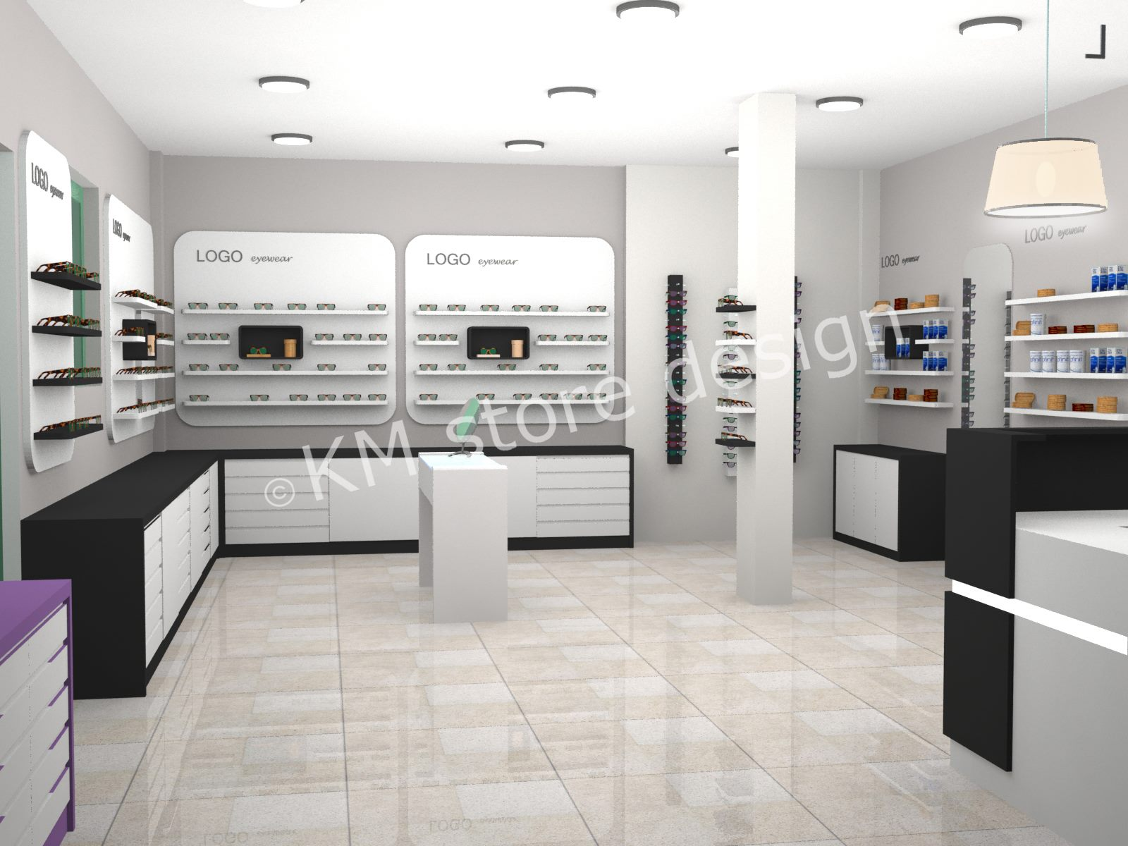 69e0a46c67 Εξοπλισμός οπτικών καταστημάτων - KM store design