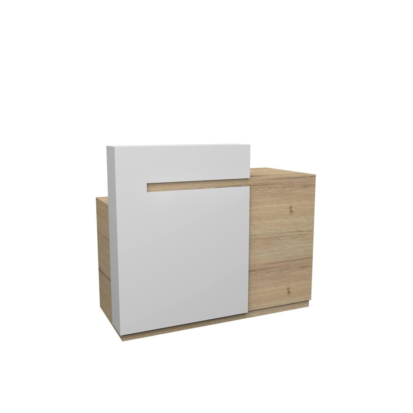 ρεσεψιον καταστηματος ξυλινη