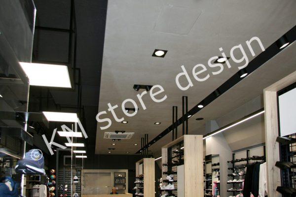 μεταλλική κατασκευή για τοποθέτηση φωτισμού οροφής