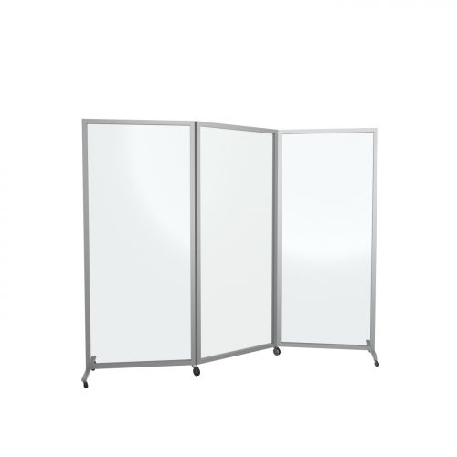 Panel Plexiglass πτυσσόμενο 13-007 με ρόδες