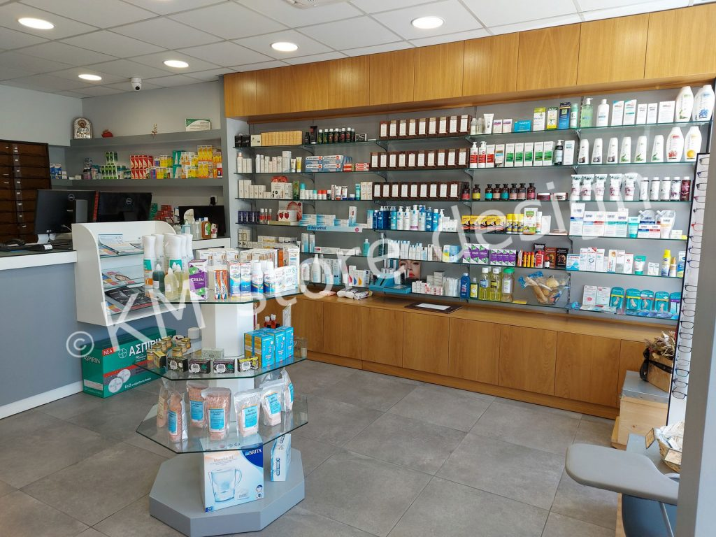 επίπλωση φαρμακείου στο Περιστερι