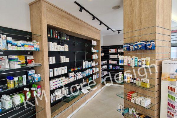 επίπλωση -ραφιέρες φαρμακείου στο Περιστέρι