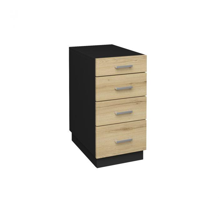 Συρταριέρα μαύρη με ξύλο